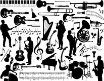 Musikalische Elemente Stockbild