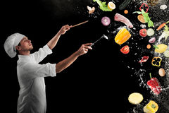 Musikalische Harmonie des Lebensmittels Lizenzfreies Stockbild