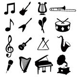 Musikalische Ikonen Stockbild