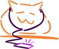 Musikalische Katze Stockfoto