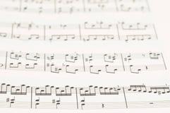 Musikalische Kerbe Stockfoto