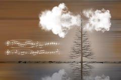Musikalische Landschaftsillustration lizenzfreies stockfoto