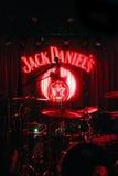 Musikalische Szene vor einem Konzert während Jack Daniel Lizenzfreies Stockbild