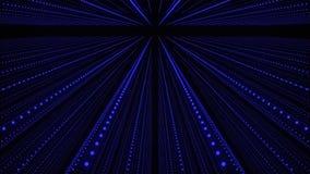 Musikalischer abstrakter Hintergrund Schallwellekorridor Ineinander greifen von soliden Partikeln Wiedergabe 3d lizenzfreie abbildung