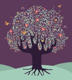 Musikalischer Frühlingszeitbaum vektor abbildung