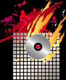 Musikalischer Hintergrund Stockfotografie