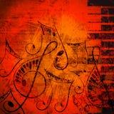Musikalischer Hintergrund Lizenzfreie Stockfotografie