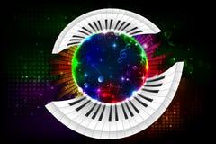 Musikalischer Hintergrund Stockfoto