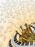 Musikalischer Hintergrund Stockbilder