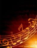 Musikalischer Hintergrund Stockbild