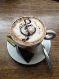 Musikalischer Kaffee Stockfotos