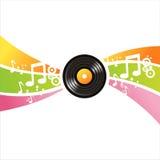 Musikalischer Vinylsatzhintergrund vektor abbildung