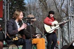Musikalisches Band führt im Stadium durch Lizenzfreie Stockfotografie