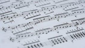 Musikalisches Briefpapier-Blatt stock video