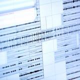 Musikalisches Diagramm auf Flüssigkristall-Sichtanzeige Lizenzfreies Stockbild