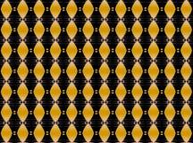 Musikalisches goldenes wiederholtes Muster Lizenzfreie Stockfotografie