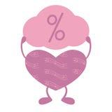 Musikalisches Herz mit Prozentzeichen Lizenzfreie Stockfotos