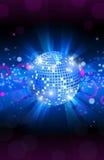 Musikalisches Hintergrundblau, Tanzpartyflieger, Vektor Lizenzfreie Stockfotos