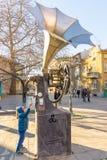 Musikalisches Monument in Burgas, Bulgarien Lizenzfreie Stockfotografie