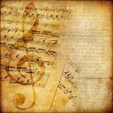 Musikalisches Papier lizenzfreie stockbilder