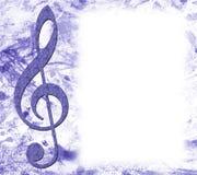 musikalisk affischtreble för klav Royaltyfri Fotografi
