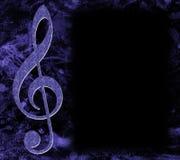 musikalisk affischtreble för klav Royaltyfri Bild