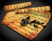 musikalisk anmärkning Arkivbilder