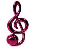 musikalisk anmärkning Royaltyfria Bilder