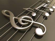 musikalisk anmärkning Fotografering för Bildbyråer