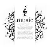 Musikalisk bakgrund Royaltyfria Foton