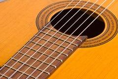 Musikalisk bakgrundsbild av den klassiska gitarren Royaltyfria Foton
