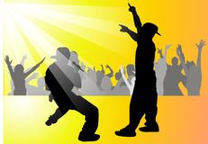 musikalisk deltagareungdom Arkivbild