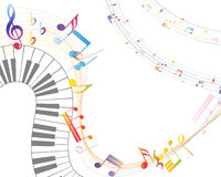 Musikalisk design Arkivfoton