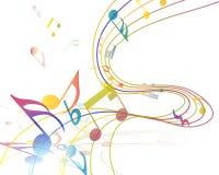 Musikalisk design Arkivbild