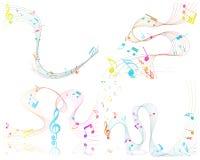 Musikalisk design Arkivbilder