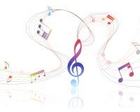 Musikalisk design Arkivfoto