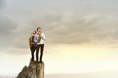 Musikalisk duett text för rest för bild för com-begreppsfigurine höger plattform Royaltyfria Foton