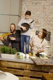 Musikalisk familj Fotografering för Bildbyråer