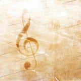 Musikalisk grungebakgrund Arkivfoto