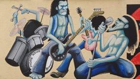 Musikalisk grupp grafitti vektor illustrationer