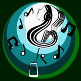 Musikalisk inre värld Arkivfoto
