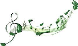 musikalisk naturnotsystem Vektor Illustrationer