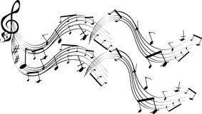 musikalisk notsystem Royaltyfri Illustrationer