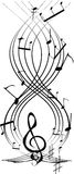 musikalisk notsystem Royaltyfri Bild