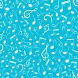 Musikalisk sömlös modell med anmärkningar Arkivbild