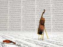Musikalisk sammansättning för fiol och för violoncell stock illustrationer