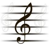 Musikalisk sammansättning. noterar. Vektorillustration Vektor Illustrationer