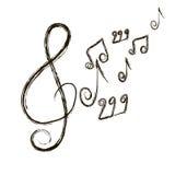Musikalisk sammansättning. noterar. Vektorillustration Royaltyfri Foto