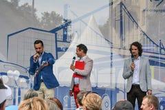 Musikalisk show arkivfoto