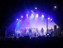 Musikalisk show på natten Arkivfoto
